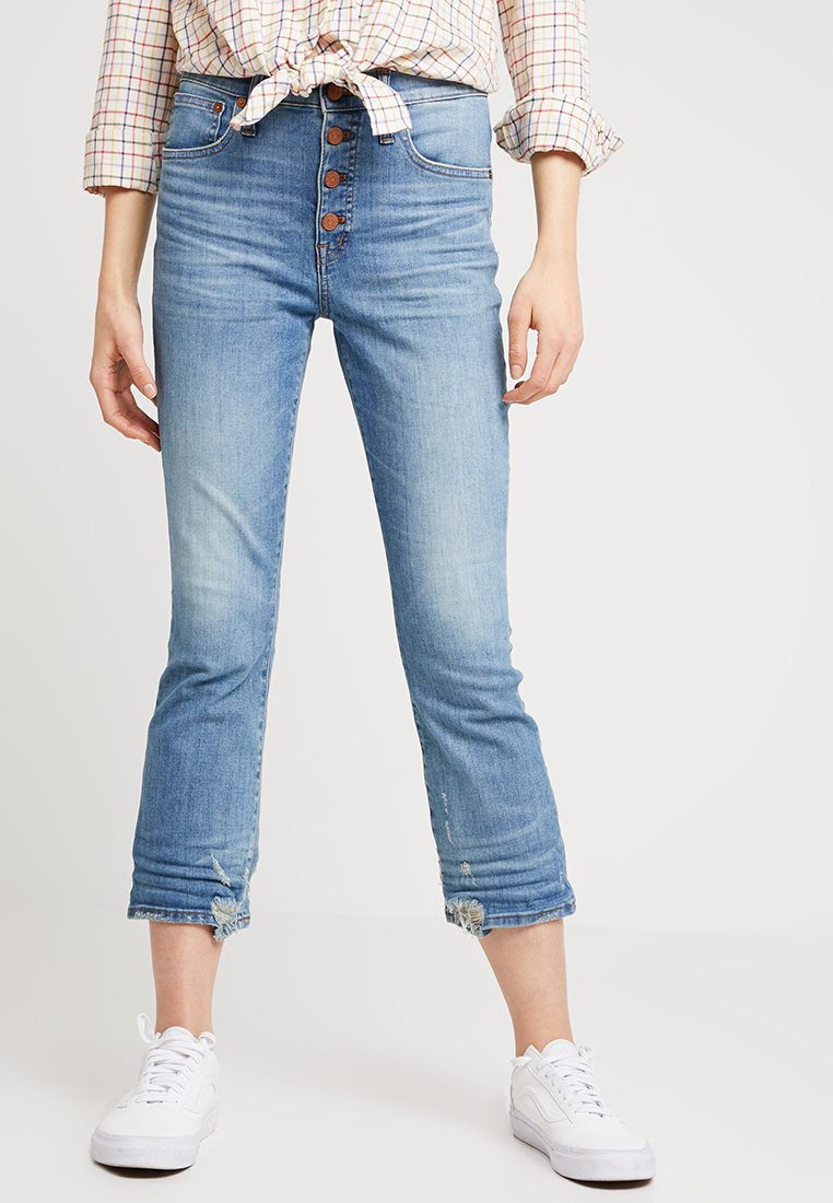 Madewell - CALI BUTFRONT - Flared Jeans - blue denim