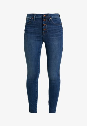 HIGH RISE BUTTON FRONT - Jeans Skinny Fit - brinville wash