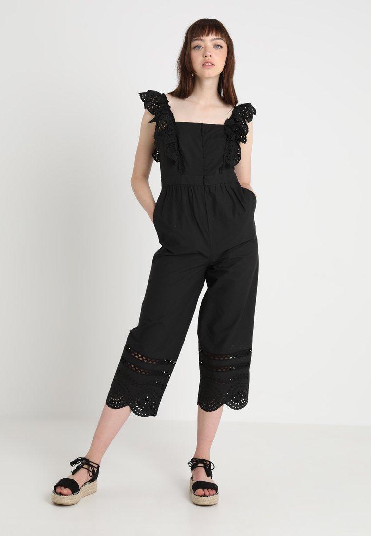 Madewell - SHOULDER FRILL - Jumpsuit - true black
