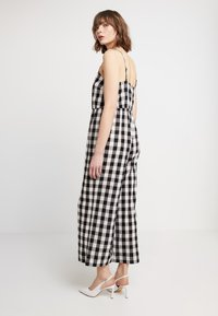 Madewell - SHIRRED CAMI IN GINGHAM - Combinaison - true black