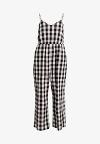 Madewell - SHIRRED CAMI IN GINGHAM - Combinaison - true black - 4