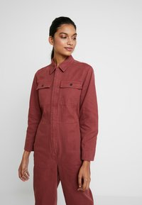 Madewell - HOLIDAY COVERALL - Jumpsuit - rusted burgundy - 3