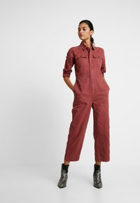 Madewell - HOLIDAY COVERALL - Jumpsuit - rusted burgundy - 1