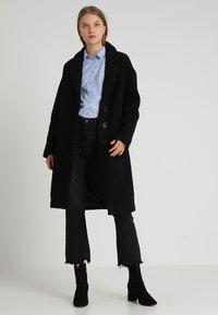 Madewell - LONG COCOON COAT - Mantel - true black - 2
