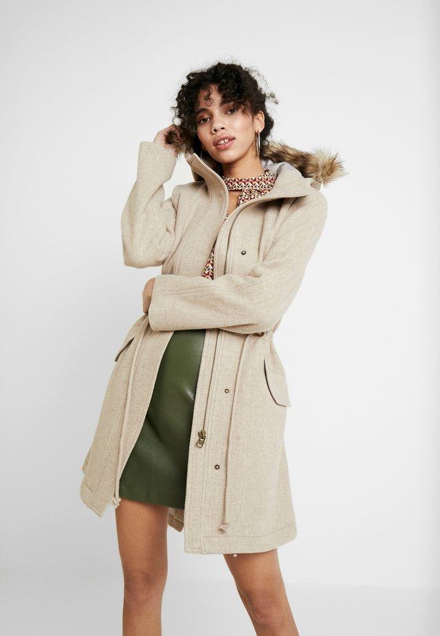 HOODED ANORAK - Classic coat - heather oatmeal