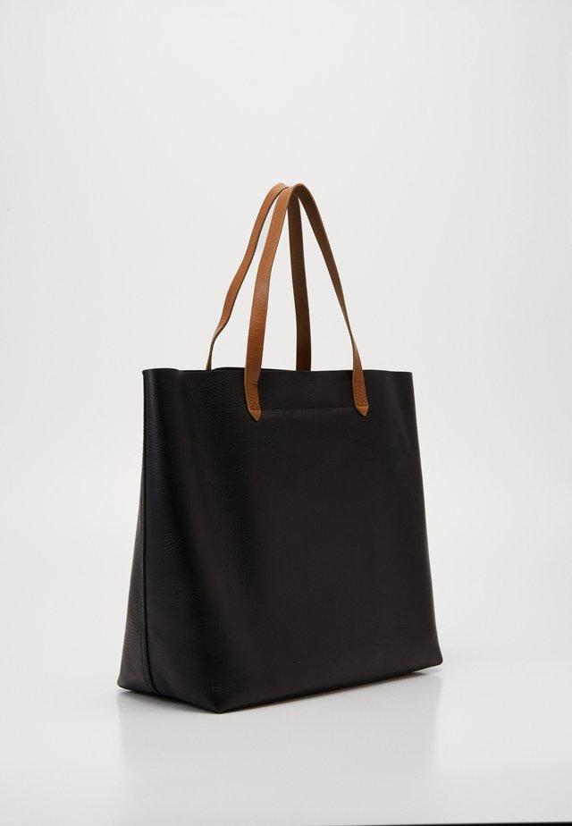 TRANSPORT TOTE - Tote bag - true black/brown