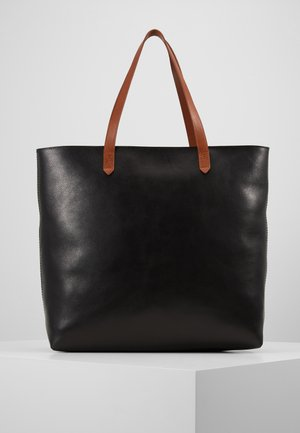 ZIP TOP TRANSPORT TOTE - Shopping Bag - true black/brown