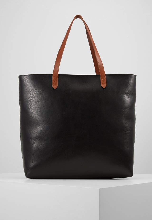 ZIP TOP TRANSPORT TOTE - Velká kabelka - true black/brown