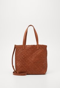 Madewell - MEDIUM TRANSPORT WOVEN - Handbag - burnished caramel - 0