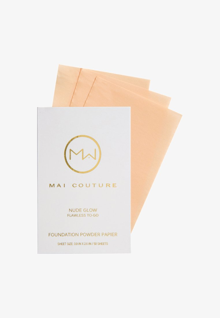 Mai Couture - FOUNDATION POWDERED PAPER 50 SHEETS - Fond de teint - nude glow
