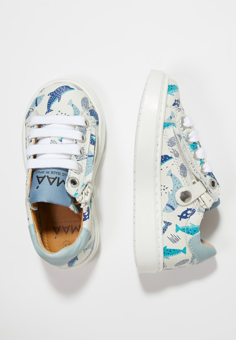 MAÁ - Baby shoes - dolphins/off white