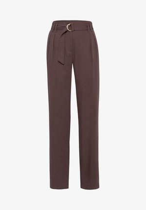 MIT LOCKEREM SCHNITT - Trousers - chocolate