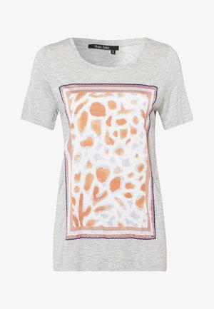 MIT APPLIZIERTEM ANIMALPRINT - Print T-shirt - grey melange