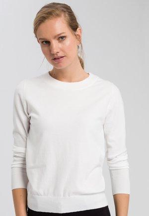 MIT RUNDHALS - Jumper - off white