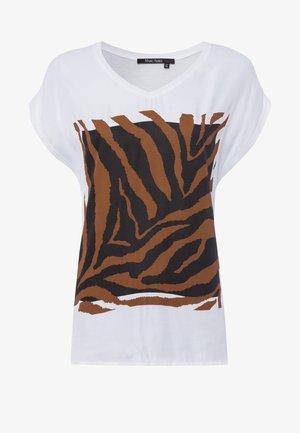 MIT TIGER - Print T-shirt - white varied