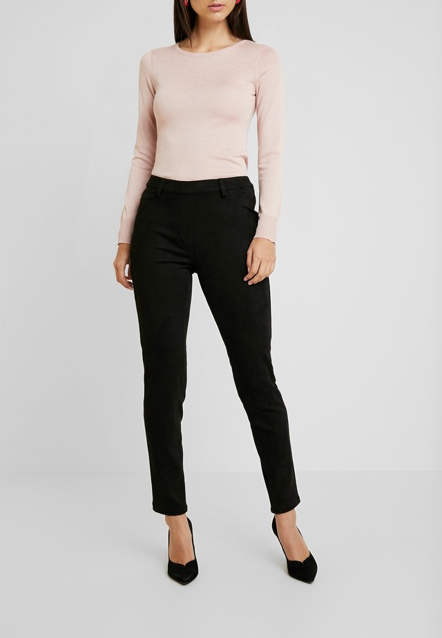 PAPIA TROUSERS - Kalhoty - black