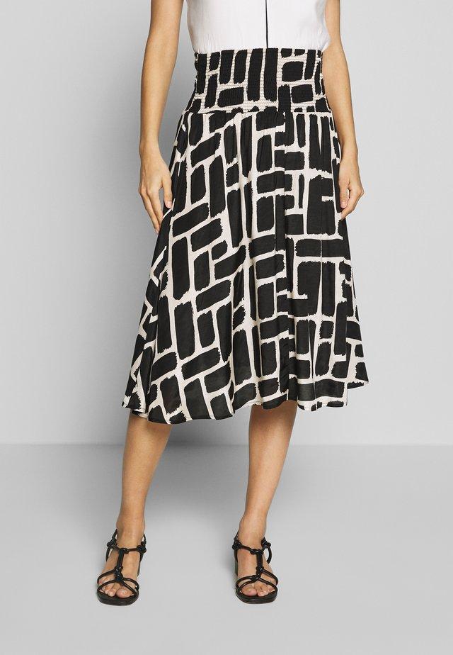 SONDRA - A-line skirt - black