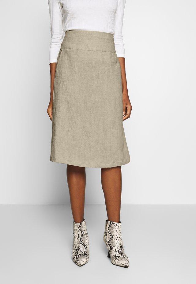 SARA - A-line skirt - natural