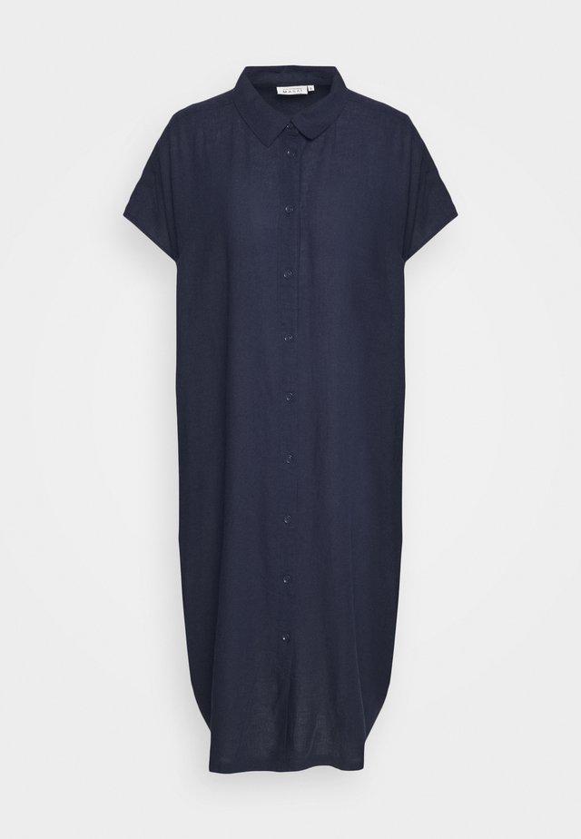 NELLA - Skjortekjole - dark blue