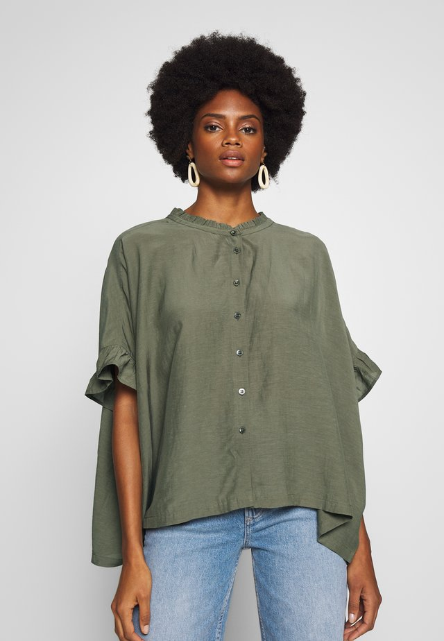 IOYA - Button-down blouse - olive