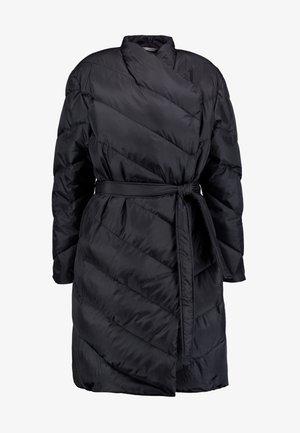 TRICIA COAT - Abrigo de plumas - black