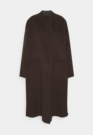 THORA - Classic coat - chocolate