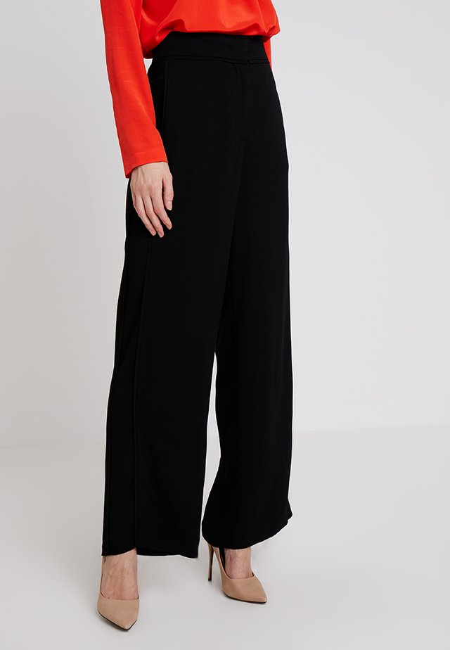PANTS WIDE LEG - Trousers - black
