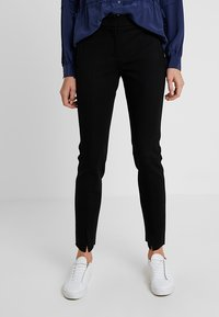 Marc O'Polo PURE - PANTS FIT SLIT DETAIL AT HEM - Trousers - black - 0