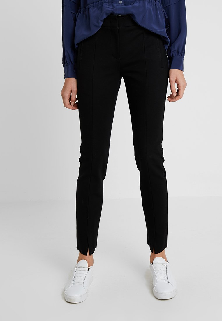 Marc O'Polo PURE - PANTS FIT SLIT DETAIL AT HEM - Trousers - black