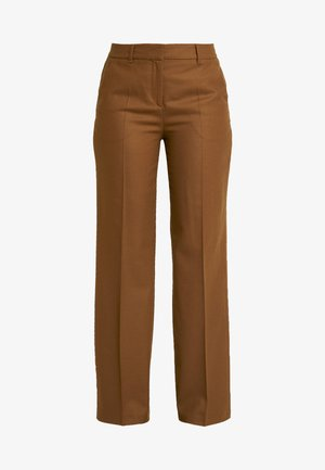 PANTS SLIGHTLY TAPERED FIT - Kangashousut - dark camel