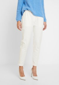 Marc O'Polo PURE - PANTS SIDE INSERT - Pantalon classique - natural white - 0