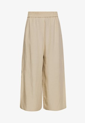 CULOTTES WIDE LEGRELATED ELASTIC WAISTBAND - Pantaloni - warm sand