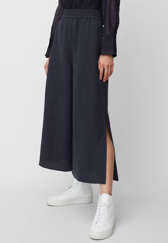 CULOTTES WIDE LEGRELATED ELASTIC WAISTBAND - Trousers - mottled blue