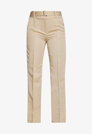 PANTS STRAIGHT FIT WITH SLIT D-RING BELT - Trousers - warm sand