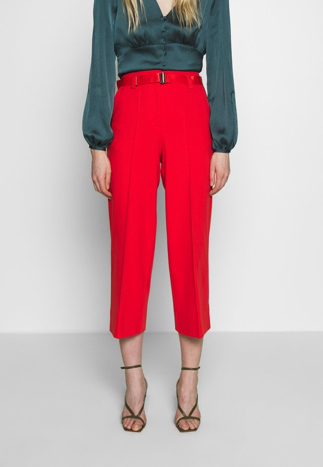PANTS HIGH WAISTED WIDE LEG  - Broek - flashy coral