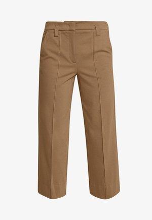 PANTS HIGH WAISTED WIDE LEG  - Pantaloni - warm pecan