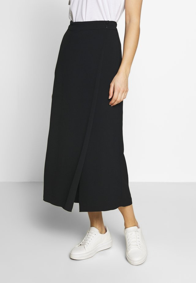 PANTS SKIRT - Pantalones - pure black