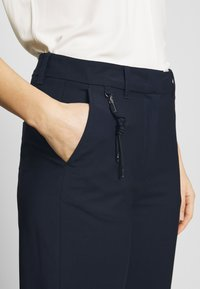 Marc O'Polo PURE - HYBRID TAILORED PANTS - Trousers - steel blue - 4