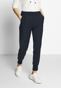 Marc O'Polo PURE - HYBRID TAILORED PANTS - Trousers - steel blue - 0