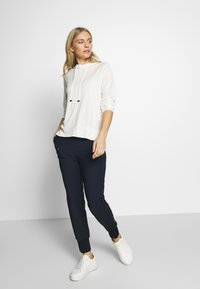 Marc O'Polo PURE - HYBRID TAILORED PANTS - Trousers - steel blue - 1