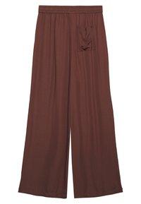 Marc O'Polo PURE - MIJA PANTS ELASTIC WAISTBAND WIDE LEG - Bukser - dark chocolate - 1
