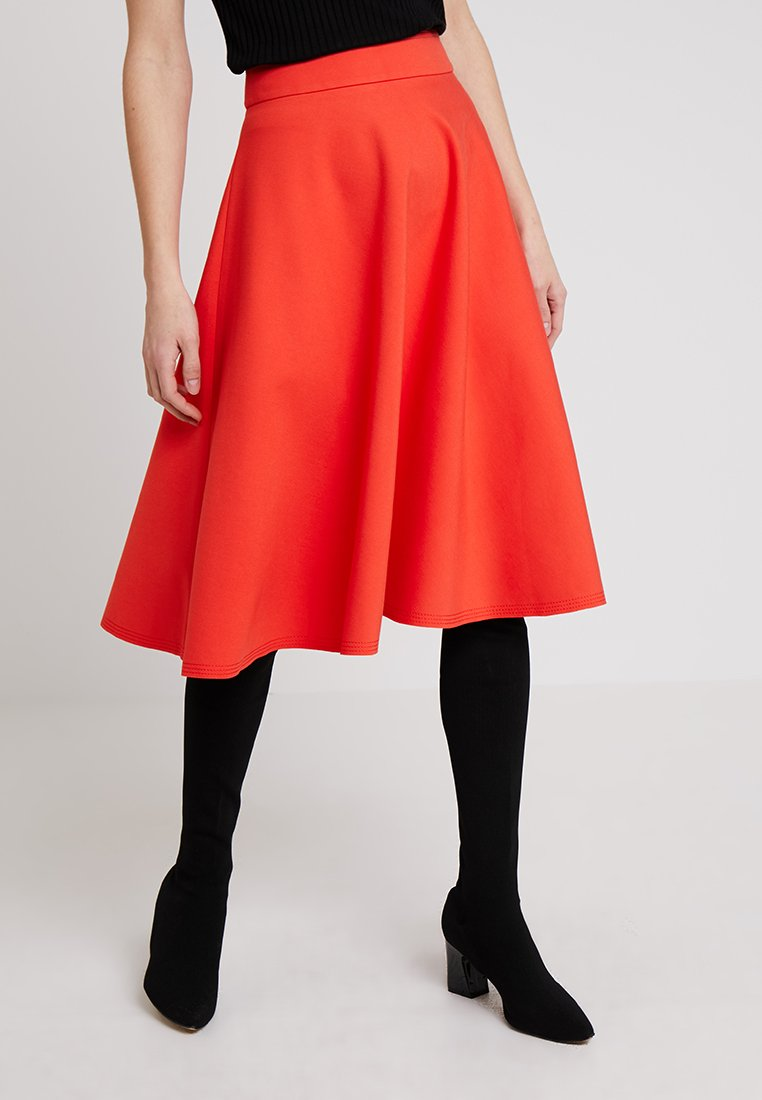Marc O'Polo PURE - SKIRT CIRCLE SILHOUETTE - A-line skirt - strong scarlet