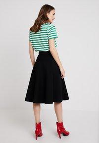 Marc O'Polo PURE - SKIRT CIRCLE SILHOUETTE - A-line skirt - black - 2