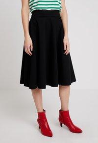 Marc O'Polo PURE - SKIRT CIRCLE SILHOUETTE - A-line skirt - black - 0