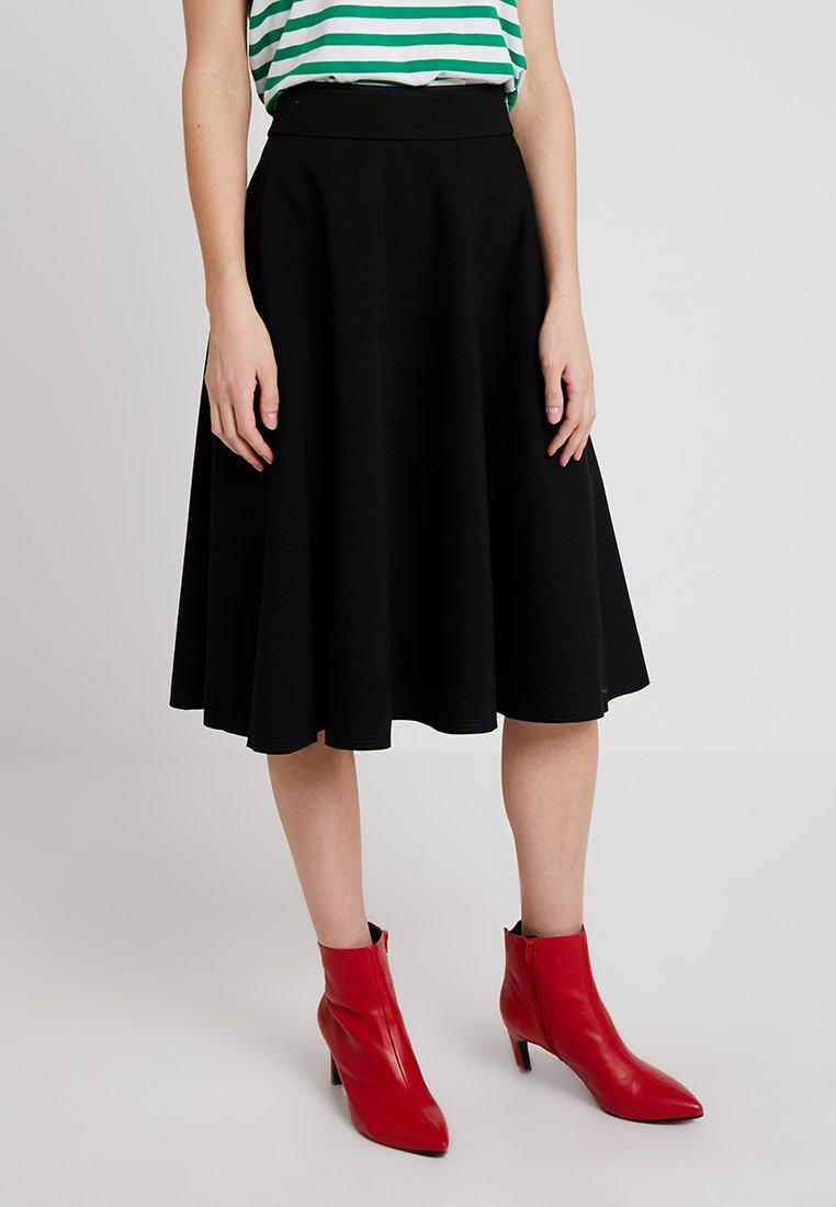 Marc O'Polo PURE - SKIRT CIRCLE SILHOUETTE - A-line skirt - black