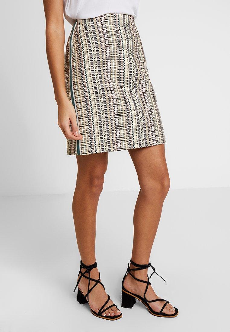 Marc O'Polo PURE - SKIRT SHORT LENGTH PENCIL SHAPE - A-line skirt - multi-coloured