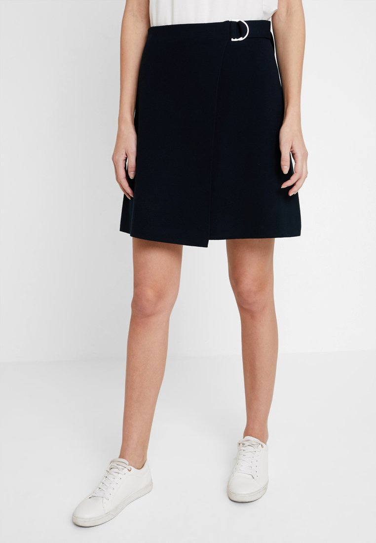 Marc O'Polo PURE - A SHAPE WRAPPED SKIRT - Omslagsskjørt - pure navy