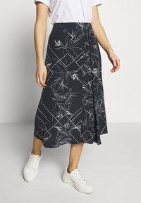 Marc O'Polo PURE - TIE SKIRT - A-snit nederdel/ A-formede nederdele - multi/dark blue - 0