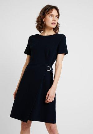 DRESS WRAPPED SKIRT - Gebreide jurk - pure navy