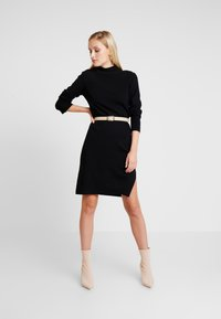 Marc O'Polo PURE - DRESS STRAIGHT FIT - Jumper dress - pure black - 2